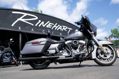 Rinehart - Rinehart Slimline Duals Black - Header Kit Twin Cam