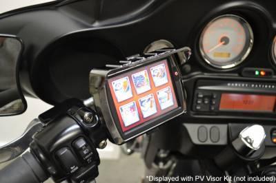 Fuel Moto - Fuel Moto Articulating Black Handlebar Mount and Power Vision Visor