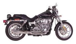 D&D - D&D - Fat Cat 2-into-1 Exhaust 08-Current FXDB/FXDWG Chrome, Louvered Baffle - Image 1