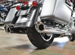 Jackpot - Jackpot Hi Roller Slip On Mufflers - Chrome with Chrome Slash End Caps Twin Cam - Image 3