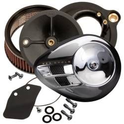 S&S Cycle - S&S Stealth Air Cleaner - H-D® M8 Models with Chrome Airstream Cover - Image 2