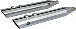 "S&S Cycle - S&S Cycle 4"" Slash Cut M8 Chrome Slip On Mufflers - Image 1"