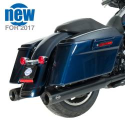 """S&S Cycle - S&S Cycle 4"""" Grand National Black Slip On Mufflers - Image 2"""