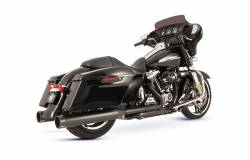 S&S Cycle - S&S Cycle Black El Dorado 50 State Exhaust System with Black Tracer End Caps - Image 1