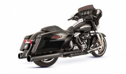S&S Cycle - S&S Cycle Black El Dorado 50 State Exhaust System with Black Thruster End Caps - Image 1