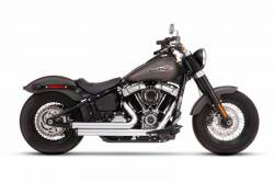 Rinehart - Rinehart - Softail 2-into-2 System Flush Black with Black End Caps - Image 1