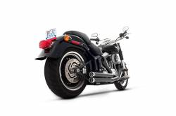 Rinehart - Rinehart - Softail 2-into-2 System Flush Black with Black End Caps - Image 2