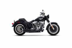 Rinehart - Rinehart - Softail 2-into-2 System Flush Black with Black End Caps - Image 3