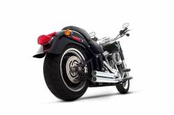Rinehart - Rinehart - Softail 2-into-2 System Flush Black with Black End Caps - Image 4