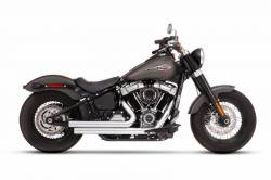 Rinehart - Rinehart - Softail 2-into-2 System Flush Black with Black End Caps - Image 6