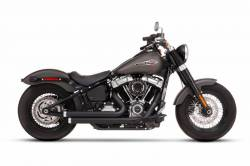 Rinehart - Rinehart - Softail 2-into-2 System Flush Black with Black End Caps - Image 7