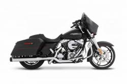 "Rinehart - Rinehart - Xtreme True Duals Black with Chrome End Caps (4"" Mufflers) - Image 1"