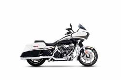 "Rinehart - Rinehart - Xtreme True Duals Black with Chrome End Caps (4"" Mufflers) - Image 7"