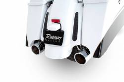 "Rinehart - Rinehart - Xtreme True Duals Black with Chrome End Caps (4"" Mufflers) - Image 8"