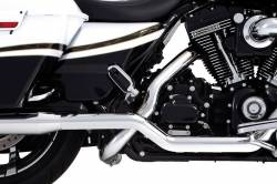 "Rinehart - Rinehart - Xtreme True Duals Black with Chrome End Caps (4"" Mufflers) - Image 9"