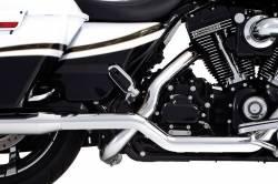 "Rinehart - Rinehart - Xtreme True Duals Chrome with Black End Caps (4"" Mufflers) - Image 9"